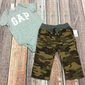 Gap Boys 3 6 12 18 24 M Camouflage Pants Outfit